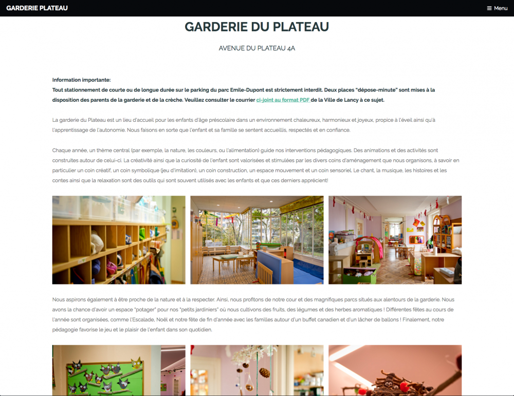 Association Garderies Plateau-Caroll